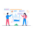 people analytics concept flat vector image