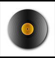 picture of an isolated vinyl plate retro music vector image