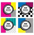 Pop art labels vector image vector image
