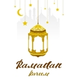 Ramadan Kareem Lettering text for greeting card vector image vector image