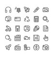science and technology line icons 1 vector image