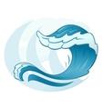 Sea wave symbol vector image vector image