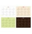 Set of 2015 year calendar templates vector image vector image