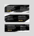 set of banners of splash ink design vector image vector image