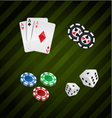 Set of casino elements poker collection