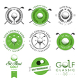 Set of golf club labels and emblems vector | Price: 1 Credit (USD $1)