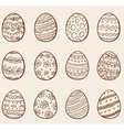 Set of hand drawn doodle Easter eggs vector image vector image
