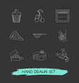 set of pastry icons line style symbols with vector image