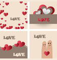 set of vintage happy valentines day badges and vector image vector image