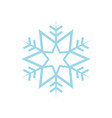 simple star snowflake vector image vector image