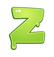 Slimy font type letter z
