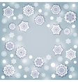 Snowflake Round Frame vector image vector image