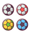 soccer or football colorful ball set vector image