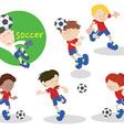 Soccerteam 01 vector image vector image