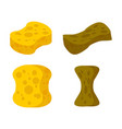 sponge new and old set accessory for cleaning vector image vector image