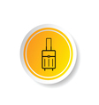 sticker of travel bag icon vector image