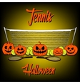 Tennis and Halloween vector image vector image