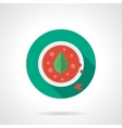 Tomato soup flat color design icon vector image vector image