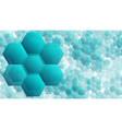 transparent hexagonal shapes technology vector image
