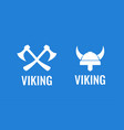 viking flat icon set of vector image vector image