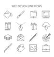 Web Design Line Icon Set vector image vector image