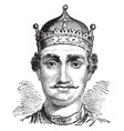 william i of england vintage vector image vector image