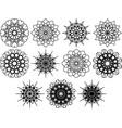 set of web design elements on white background vector image