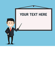 businessman and presentation board vector image