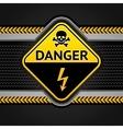 danger electricity background vector image
