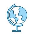color blue world map cartoon vector image