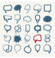 25 sketch different speech bubble collection vector image vector image