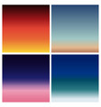 abstract sunset blurred background set vector image vector image