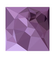 African Violet Abstract Low Polygon Background vector image vector image