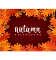 Autumn border with oak leaves and acorns vector image vector image