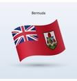 Bermuda flag waving form vector image vector image