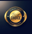 best choice golden label and badge design for vector image vector image