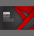 black and red geometric abstract background with vector image vector image