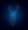 bright polygonal deer silhouette vector image vector image