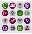 business icons set and design elements vector image vector image