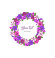 Business template round floral design vector image