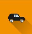 Car icon 5 long shadow vector image vector image