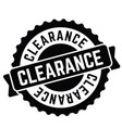 clearance rubber stamp vector image