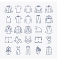 clothes linear icons vector image vector image