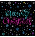 Colorful Christmas card vector image vector image