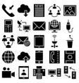 communication and digital devices isolated vector image vector image