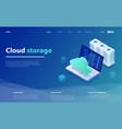 concepts cloud storage vector image vector image