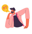 confused or frustrated man with emotions vector image