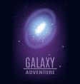 cosmic galaxy adventure background vector image vector image