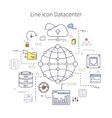 Datacenter Line vector image vector image