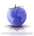 December 2017 tomato calendar vector image vector image